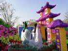 扬州园博会花车巡游和精品菊花展