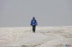 2013年1月5日成功徒步穿越罗布泊