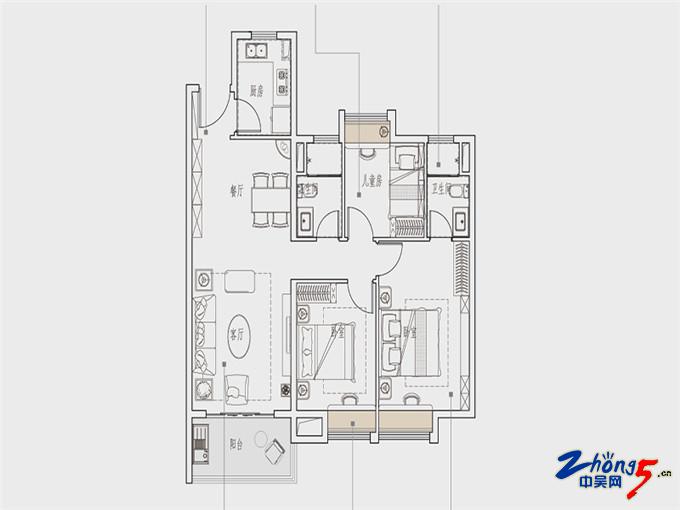高层120㎡三室两厅两卫.jpg