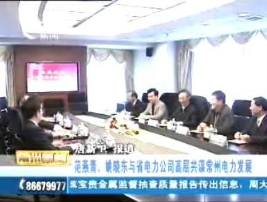 范燕青、姚晓东与省电力公司高层共谋常州电力发展