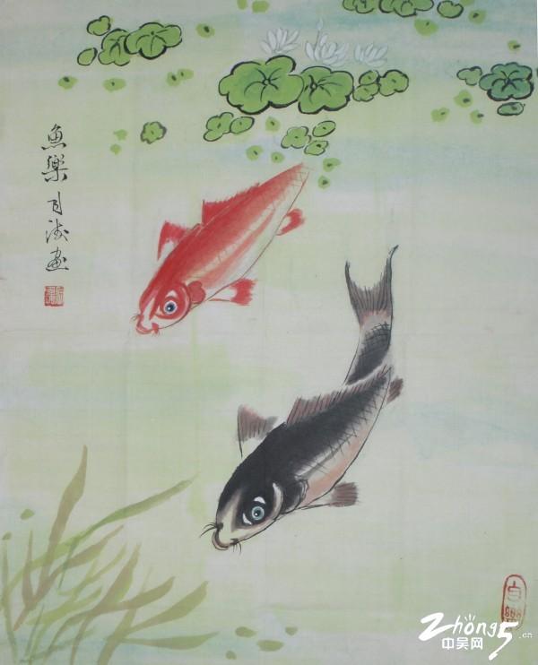 何月海 鱼乐 书画组选送