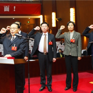 新当选的人大常务委员会委员宪法宣誓
