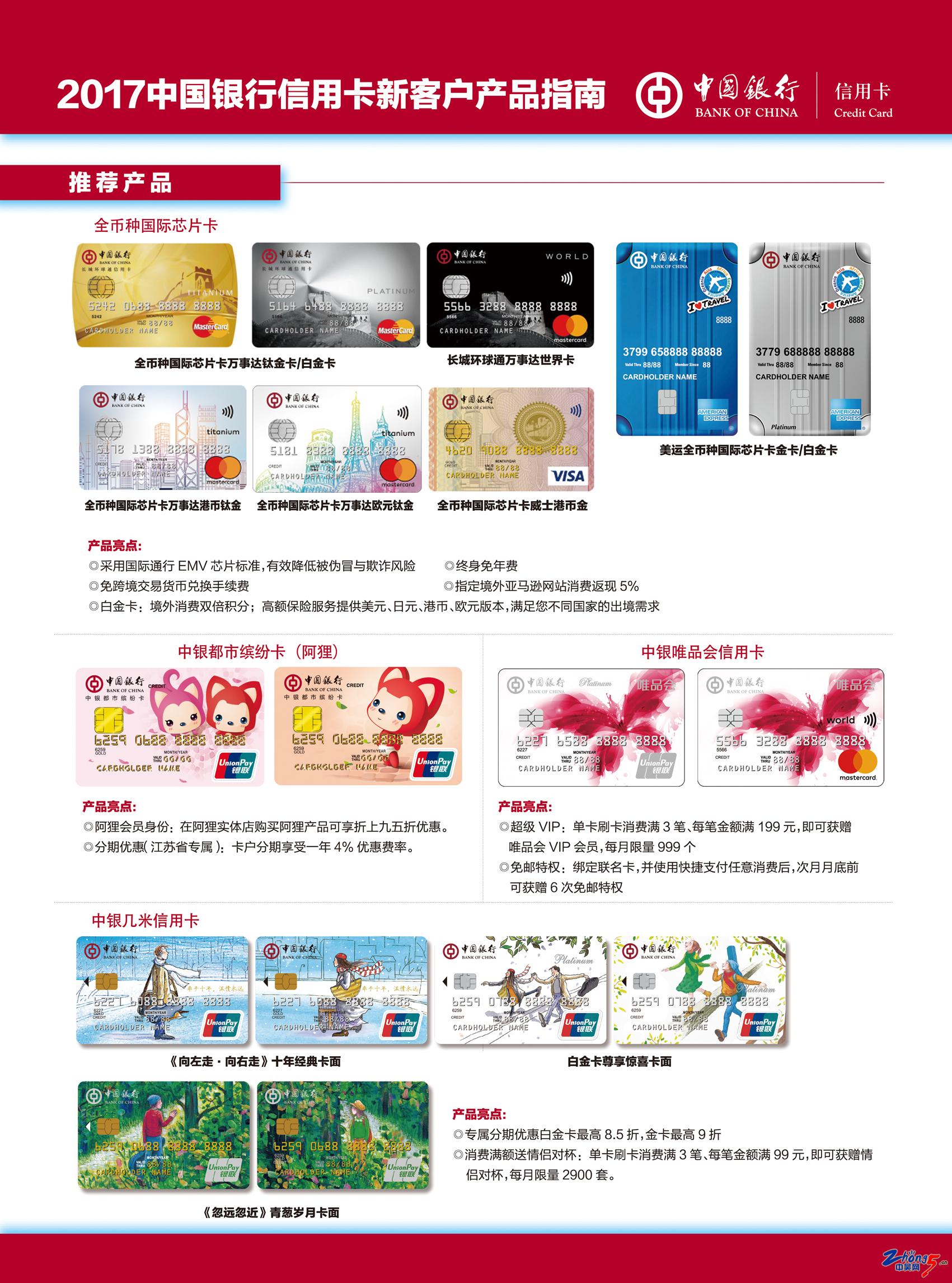 2018中国银行信用卡新客户产品指南