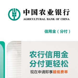 农行信用金(分付)