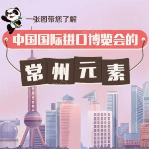 """一图带您了解中国国际进口博览会的""""常州元素""""!"""