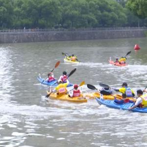 逐浪大运河 常州首届皮划艇大赛举行 亲子互动是亮点