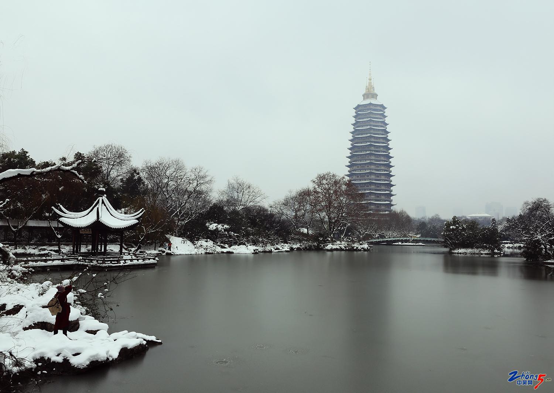红梅公园雪景