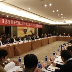 省十三届人大二次会议常州代表团举行第三次全体会议