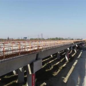 苏锡常南部高速常州段CX-CZ1标首片预制梁顺利架设