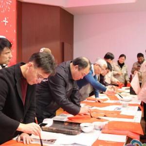 【新春走基层】常州市潞城街道兴东社区开展送春联送万福进企业活动