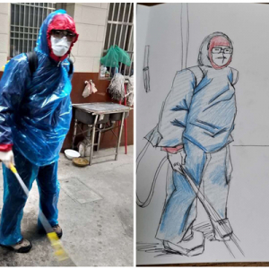 """天宁经开区:80后妈妈带娃手绘漫画 致敬抗疫一线的""""东青小蜜蜂"""""""